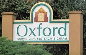 Oxford Welcome Sign