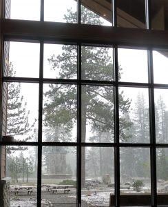 The View from inside Donner Memorial