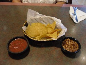 Complimentary Beans and Salsa