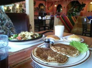 pancakes and skillet