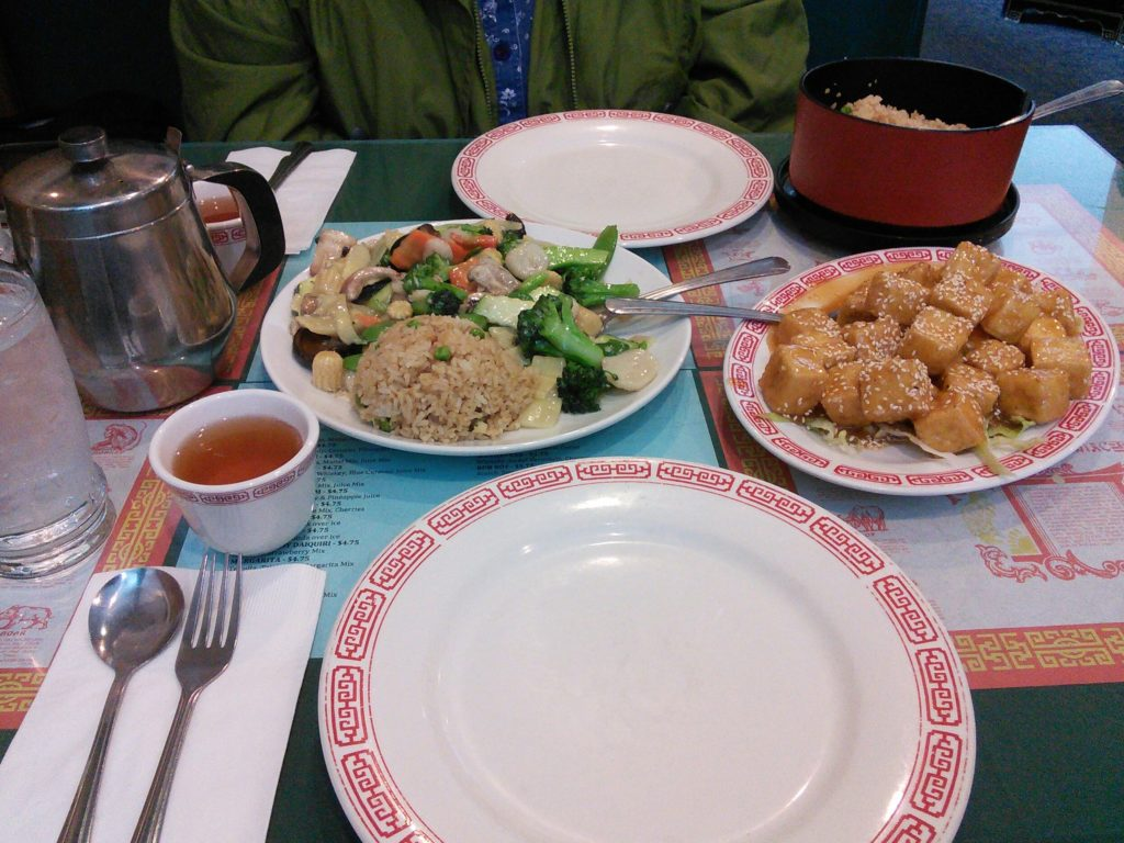 Vegetable Delight and Sesame Tofu